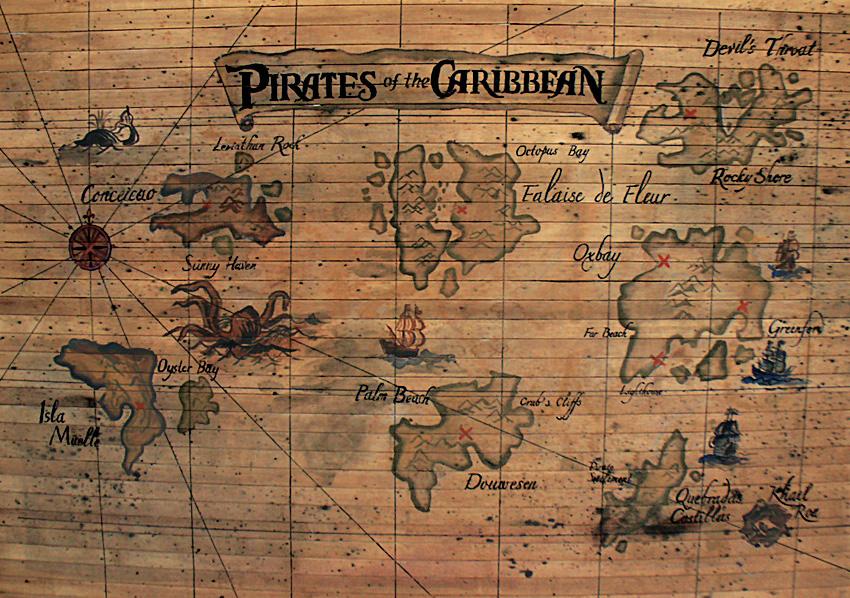 """Карта """"пираты карибского моря"""" елена - kvartirakrasivo.ru."""