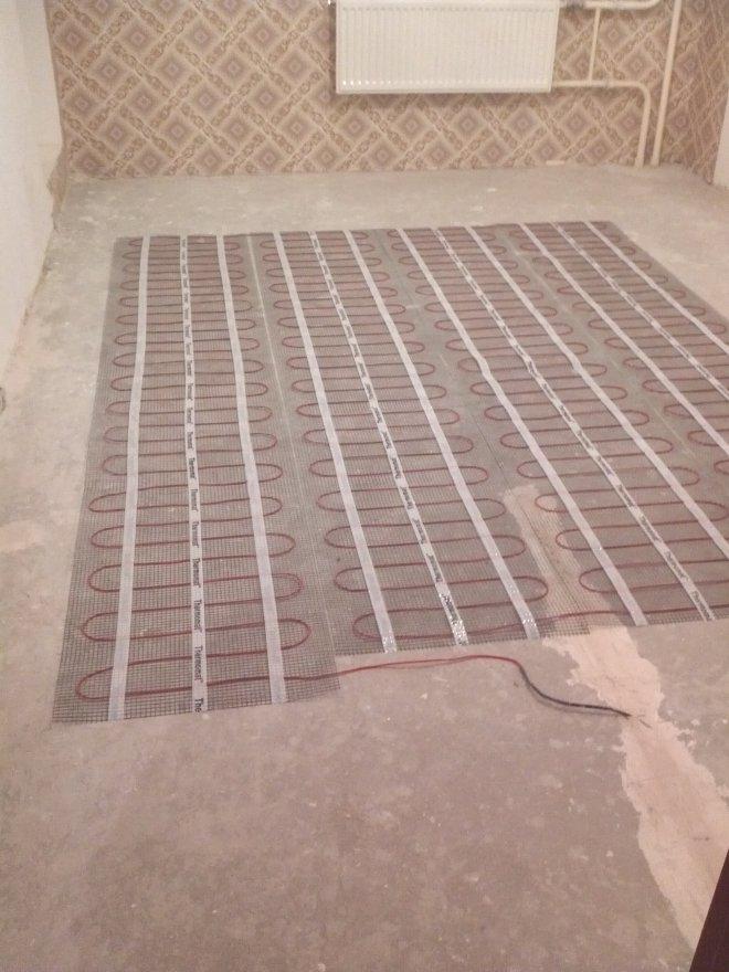 Теплый пол под плитку на кухню своими руками
