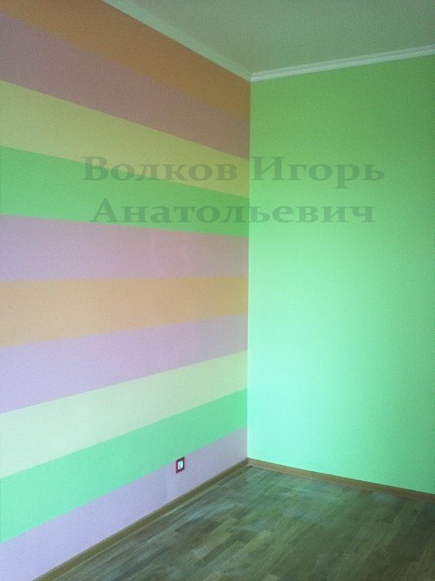 Покрасить стены в детской своими руками 11